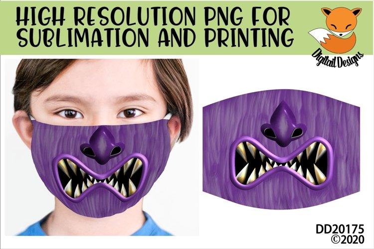 Monster Mouth Sublimation Design For Masks