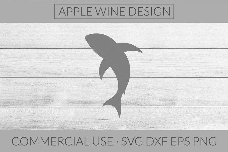 Shark Silhouette SVG DXF PNG EPS Cutting File