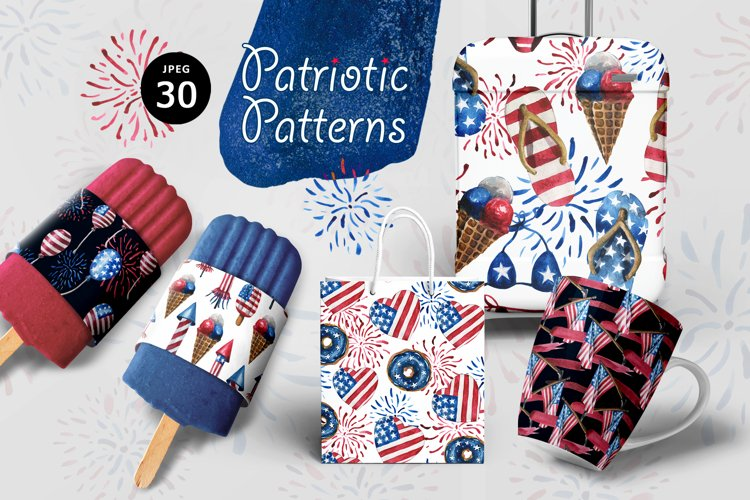 Patriotic Patterns example image 1