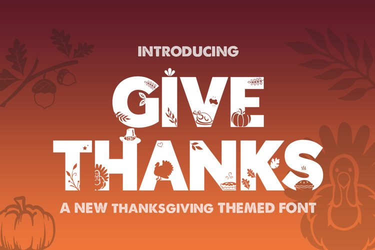 Give Thanks Silhouette Font example image 1