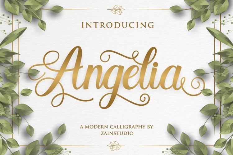 Angelia Modern Script Font example image 1