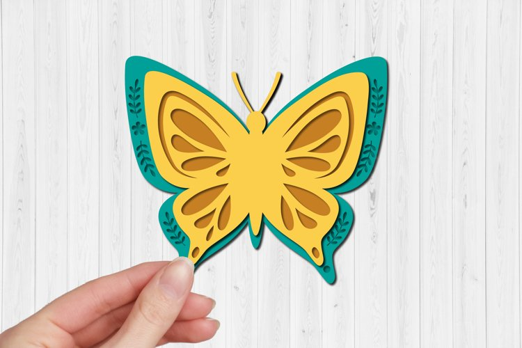 Butterfly SVGs 3d paper cut, layered paper cutting files example 1