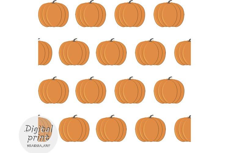 Cute cartoon Seamless pattern of Flat pumpkin