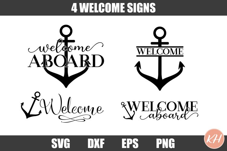 Boat Welcome Sign Bundle