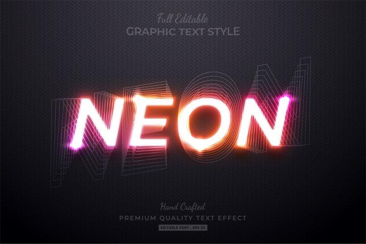 Neon Gradient Editable Custom Text Style Effect Premium example image 1