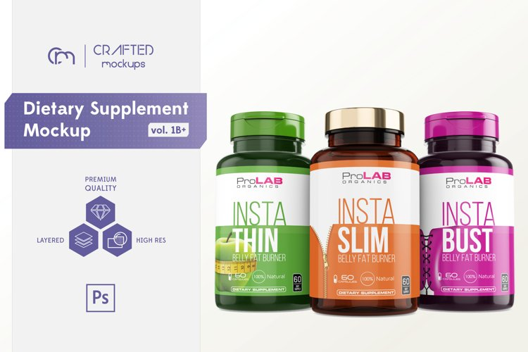 Dietary Supplement Mockup v. 1B Plus
