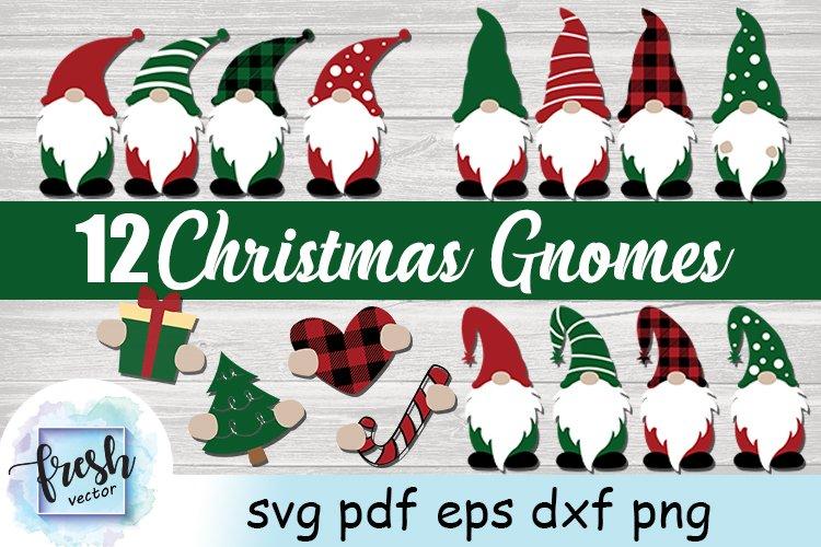 Christmas Gnomes Svg Bundle Christmas SVG Gnome Svg