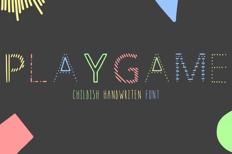 Playgame - childish handwritten font in ttf, otf example image 1