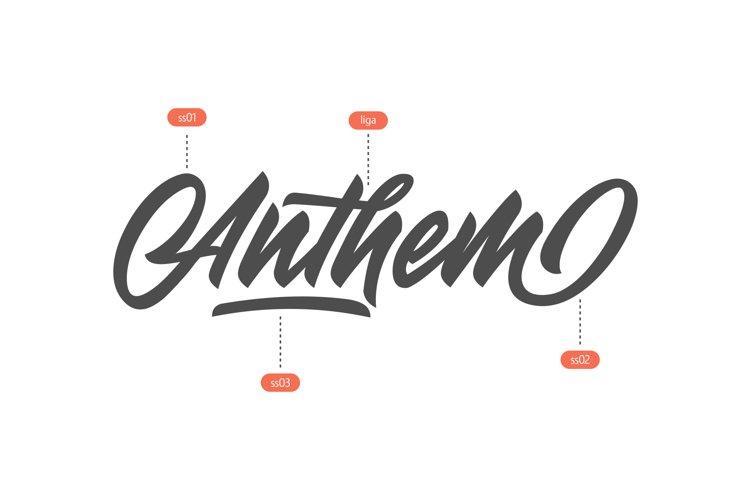 Anthem Typeface example 2