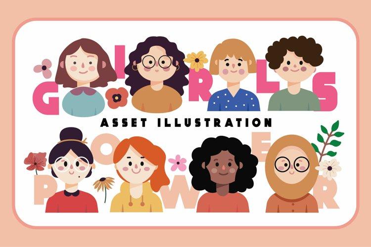 Girl Power Asset Illustration
