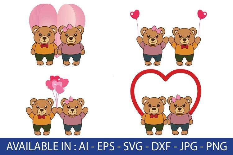 valentine, cute couple bears