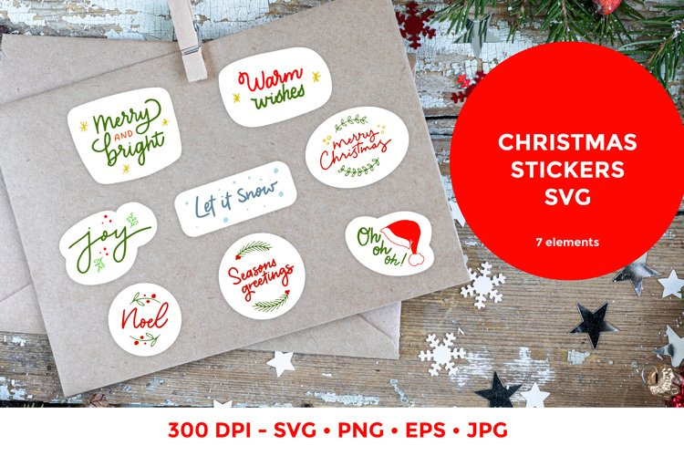Christmas stickers svg | Lettering quotes |