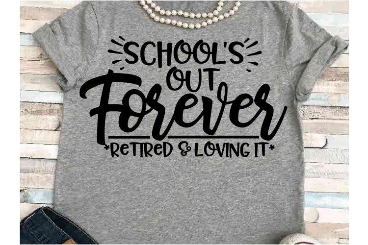 Teacher SVG DXF JPEG Silhouette Cameo Cricut Retired School example image 1