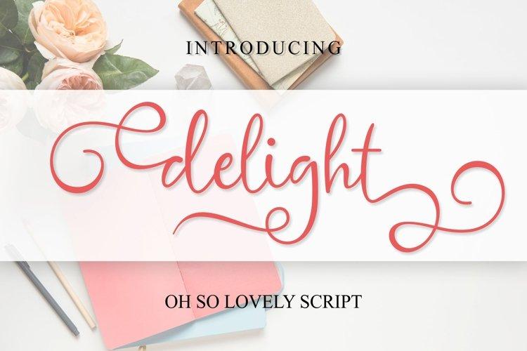 delight cute script example image 1