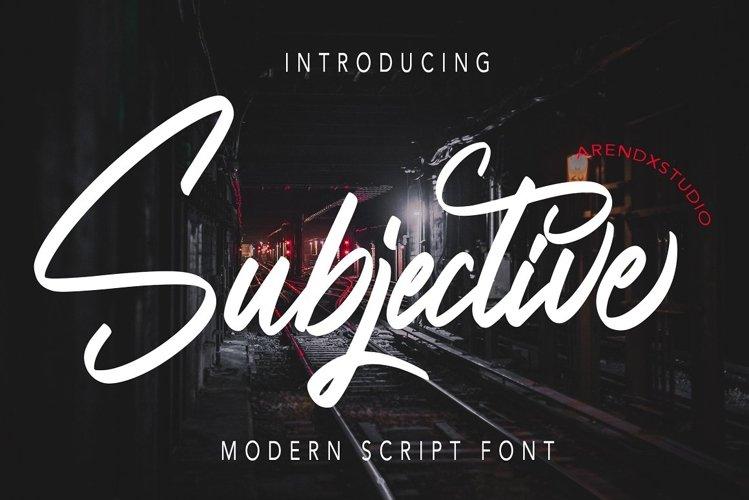 Subjective - Modern Script Font example image 1