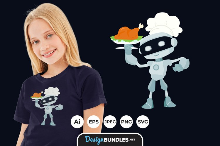 Robot Chef for T-Shirt Design example image 1