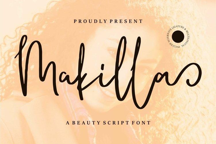 Web Font Makilla - A Beauty Script Font example image 1