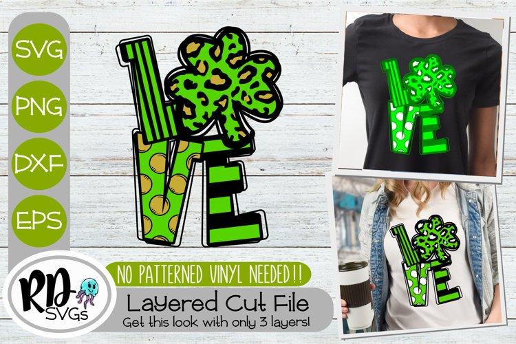 Love Cheetah Shamrock - A St Patricks Day Cricut SVG