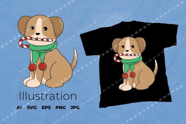 Christmas Dog Illustration | Dog Vector example image 1