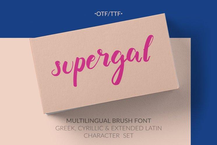 Supergal Casual Brush font example image 1