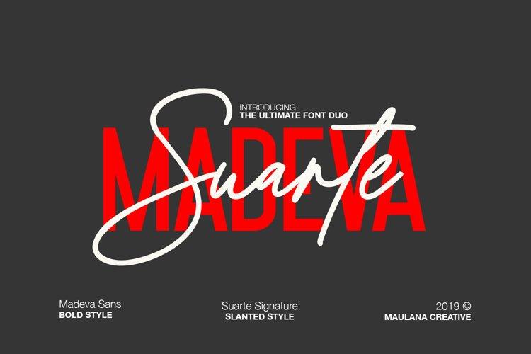 Madeva Suarte Font Duo example image 1