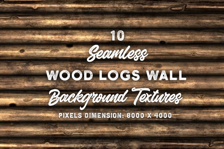 10 Wood Logs Wall Background Texture example image 1