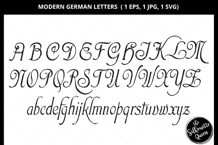 Modern German Letter Svg Cut File