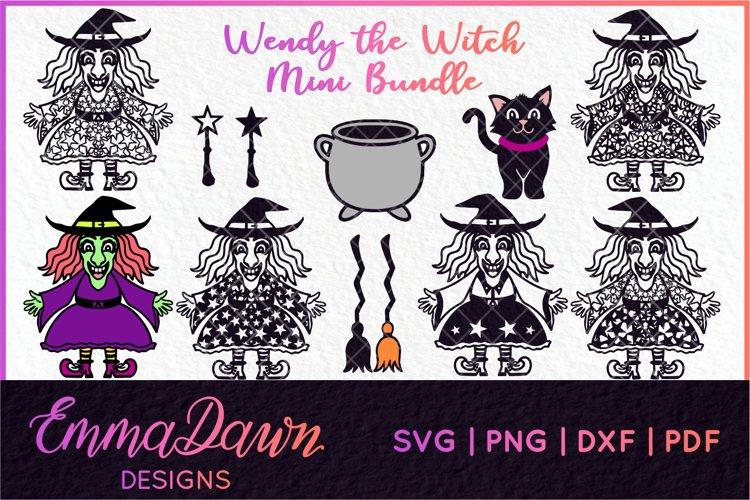 WENDY THE WITCH SVG MINI BUNDLE MANDALA ZENTANGLE DESIGN example image 1