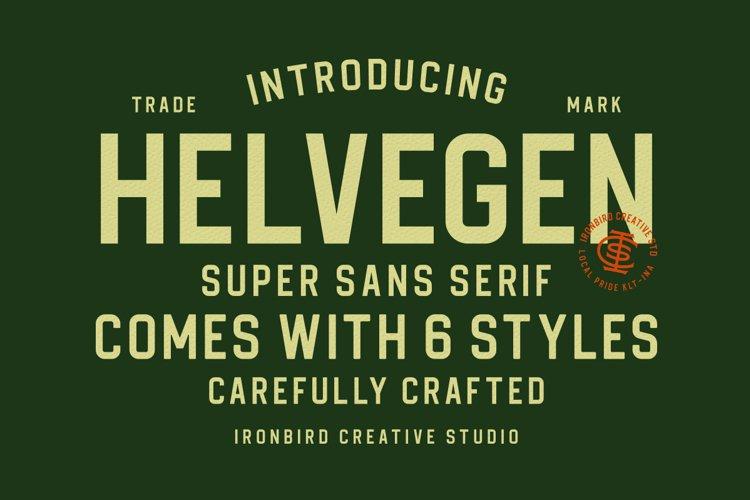 Helvegen Super Sans example image 1