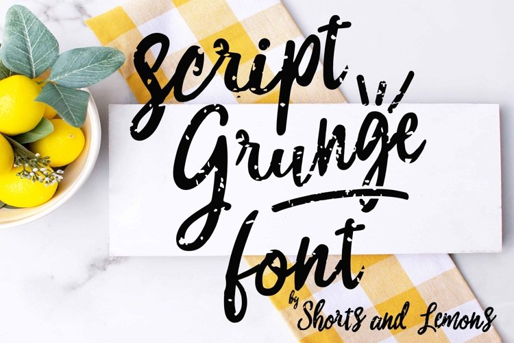 Script Grunge Font with SVG files and OTF example image 1
