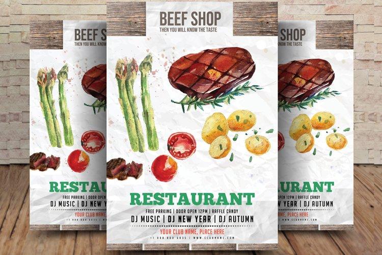 Steak Restaurant Flyer example image 1