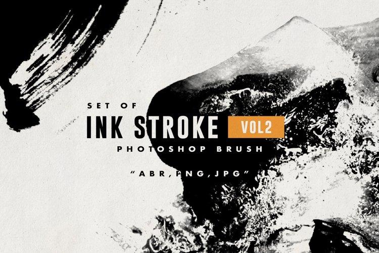 Set of Ink Stroke VOL 2 Photoshop Brush example image 1