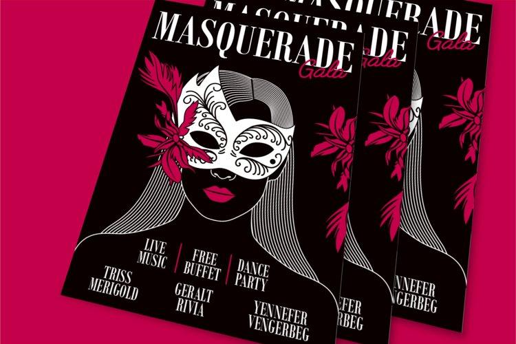 Masquerade Gala Flyer example image 1