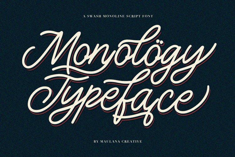 Monology Swash Script Vintage Font example image 1