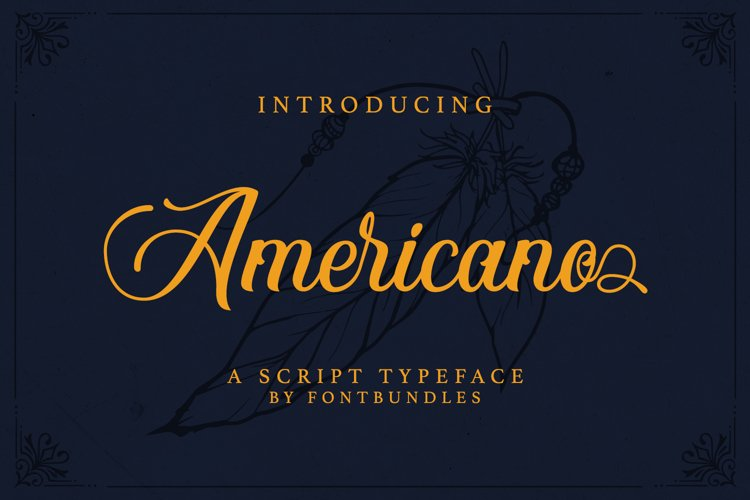 Web Font Americano example image 1