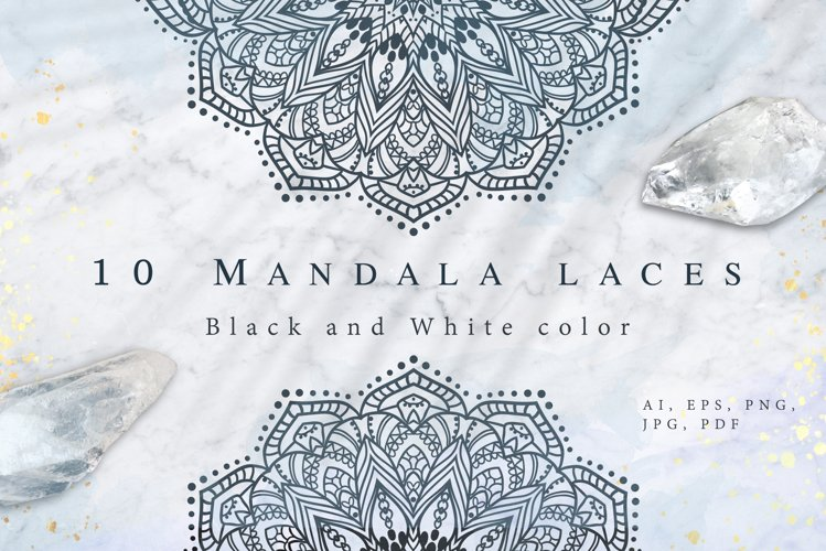 10 Mandala Laces. Bonus