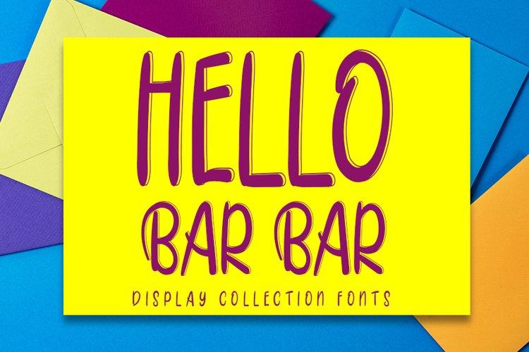 Hello Bar Bar example image 1