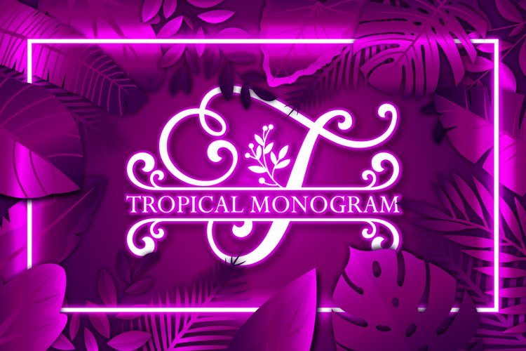 Tropical Monogram example image 1