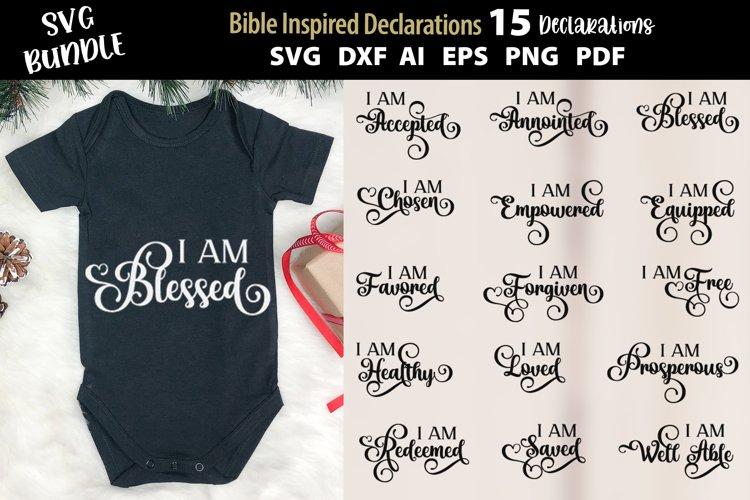 Bible Inspired Declarations -SVG Bundle Positive Affirmation