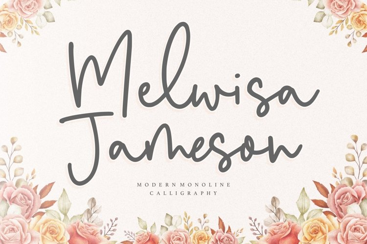 Melwisa Jameson Modern Monoline Calligraphy Font example image 1