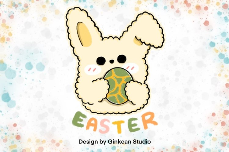 Easter egg, easter sticker, easter clipart example image 1