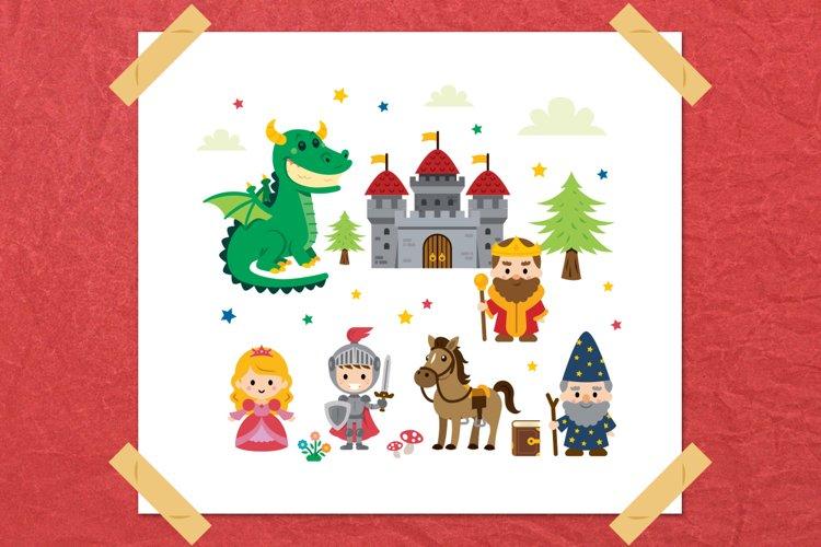 Fantasy Fairy Tale Clipart kit example image 1