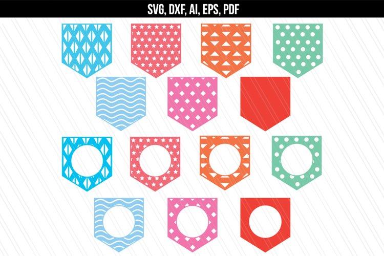 Patterned Pockets Monogram SVG,DXF,PDF,AI,EPS example image 1