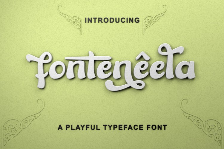fonteneela - Playful Font example image 1