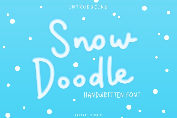 Snow Doodle | Handwritten Monoline Font example image 1