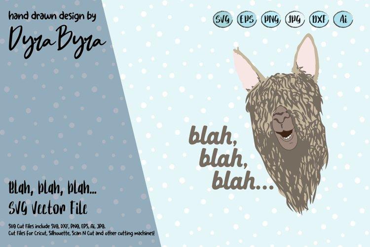 Llama SVG - Cute Llama Vector File - Kids Fun SVG example image 1