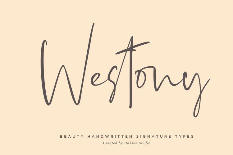 Westony Signature Script example image 1