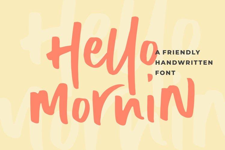 Hello Mornin example image 1