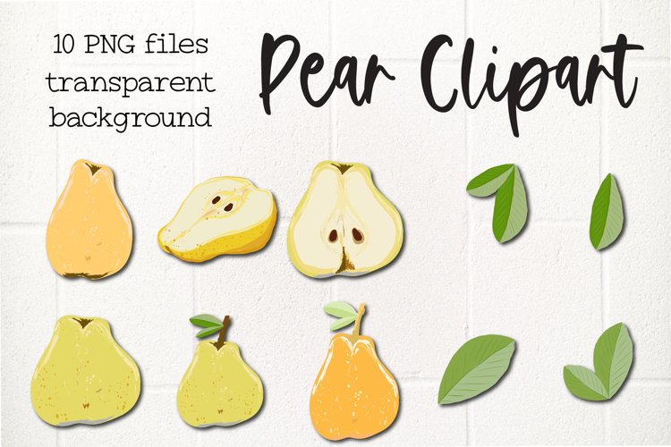 Pear, 10 Fruit Clipart