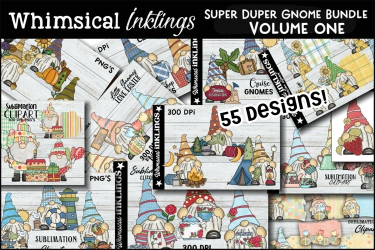 Super Duper Gnome Sublimation Bundle VOLUME ONE